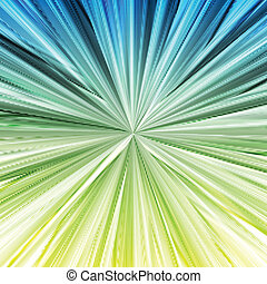 Green and blue abstract background concept template - Green...