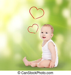 adorable smiling baby - family, children and happiness...