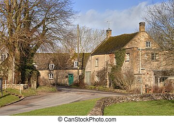 Cotswold village - The pretty Cotswold village of Condicote,...