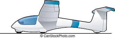 glider - illustration of a light aircraft. Simple gradients...