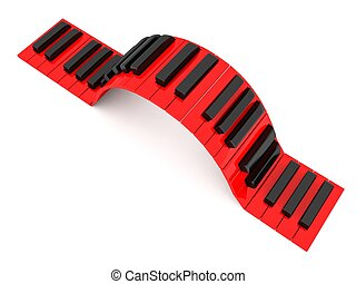 Musical Piano keys