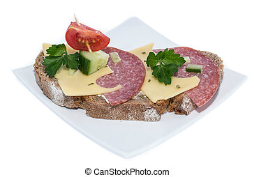 Salami Sandwich (on white)