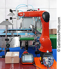 Articulated robotic arm - Articulated robot at packaging...