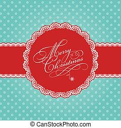 Christmas polka dot background