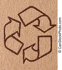 recycle symbol - detail of classic recycle symbol on...