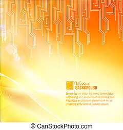 Colored circuit abstraction. Vector illustration.
