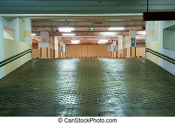 Carpark Interior - Interior of modern Underground Parking...