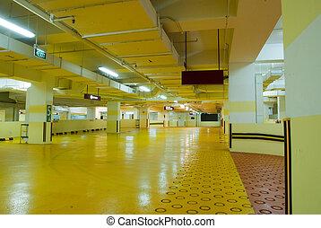 Carpark Interior - Interior of modern Underground Parking...