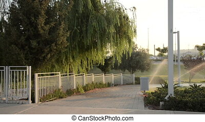 Watering system finishes - Parks watering system finishes in...