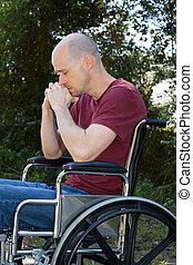 depressão, Incapacitado, Cadeira rodas