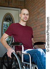 Disabled Man Home - Disabled man suffering from an illness...