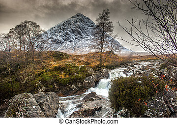 Buachaille Etive Mor, Glencoe in Winter - The mountain is...
