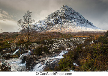 Glencoe in Winter - The mountain is Buachaille Etive Mor...