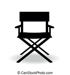 chair - a black silhouette of a cinemas director chair