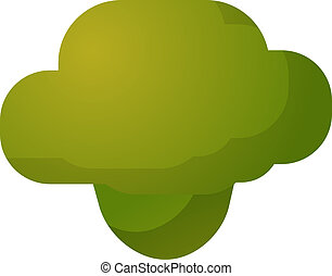 Broccoli vegetable icon - vegetable icon, chubby squarish...