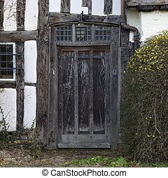 Tudor Doorway - Front entrance doorway to an old Tudor...