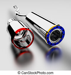 Exhaust - 3d exhaust on white background