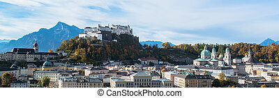 historical center of Salzburg - General view of the...