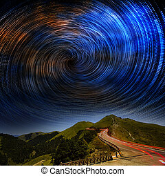 High mountain road to galaxy for adv or others purpose use
