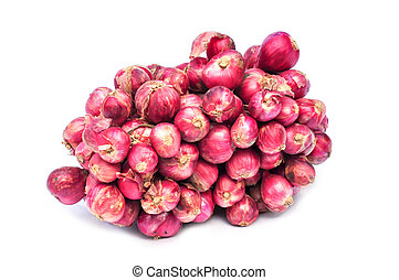 shallot - Shallot onions in a group on a white background