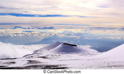 Dormant crater of Etna Sicily, Italy Time Lapse - One of the...
