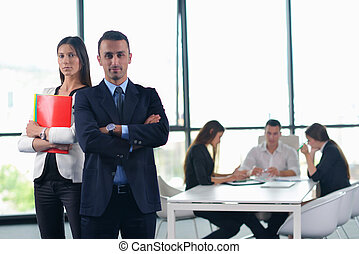 business people group in a meeting at office - Group of...