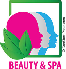 Beauty faces fashion spa logo - Beauty faces ecological spa...