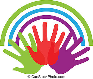 Hands and connections logo - Hands and connections icon...