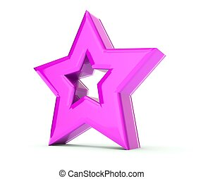 Star 3 dimensional background - Pink star 3 dimensional...