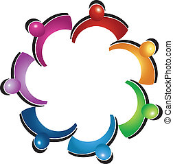 Teamwork protective people logo - Teamwork protective people...