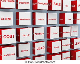 3d business concept words