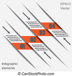 Infographic design elements (bookmarks). EPS10 vector...