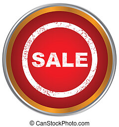New sale icon - Red sale icon on a white background