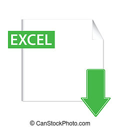 Excel icon - Green excel icon on a white background