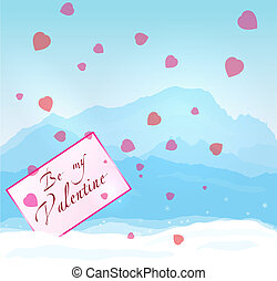 Winter mountains Valentine