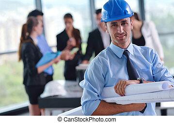 negócio, pessoas, construção,...