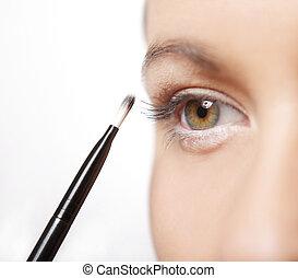 Auge schminken