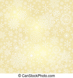 Seamless gold christmas pattern - Bright golden seamless...