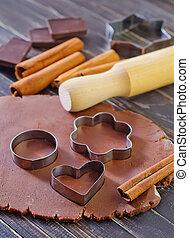 pâte, chocolat