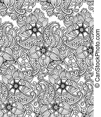 Indian seamless pattern, paisley pattern