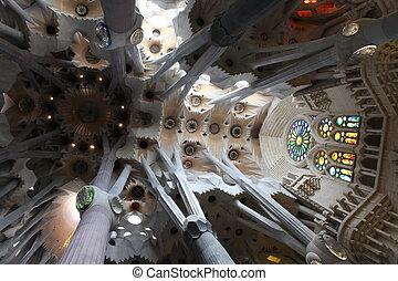 La, Barcelona, Diseñado, SAGRADA, Familia, catedral, gaud,...
