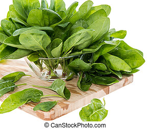 Portion of Spinach on white - Portion of Spinach isolated on...