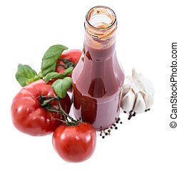 Tomato Ketchup isolated on white background