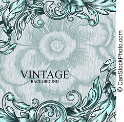 Vintage vector pattern. Hand drawn abstract background. Can...