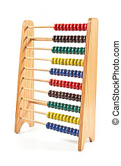 Colorful Abacus isolated on white