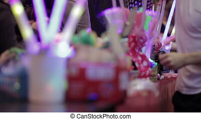 Salesman selling chinese toys. - Salesman selling chinese...