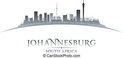 Johannesburg South Africa city skyline silhouette Vector...