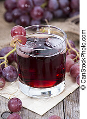 Red Grape Juice - Glass filled with Red Grape Juice