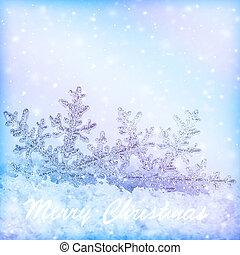 Snowflakes christmas border