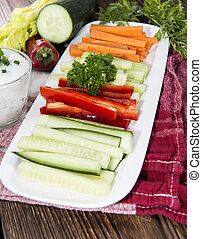 Different Vegetables with Dip - Different Vegetables with...